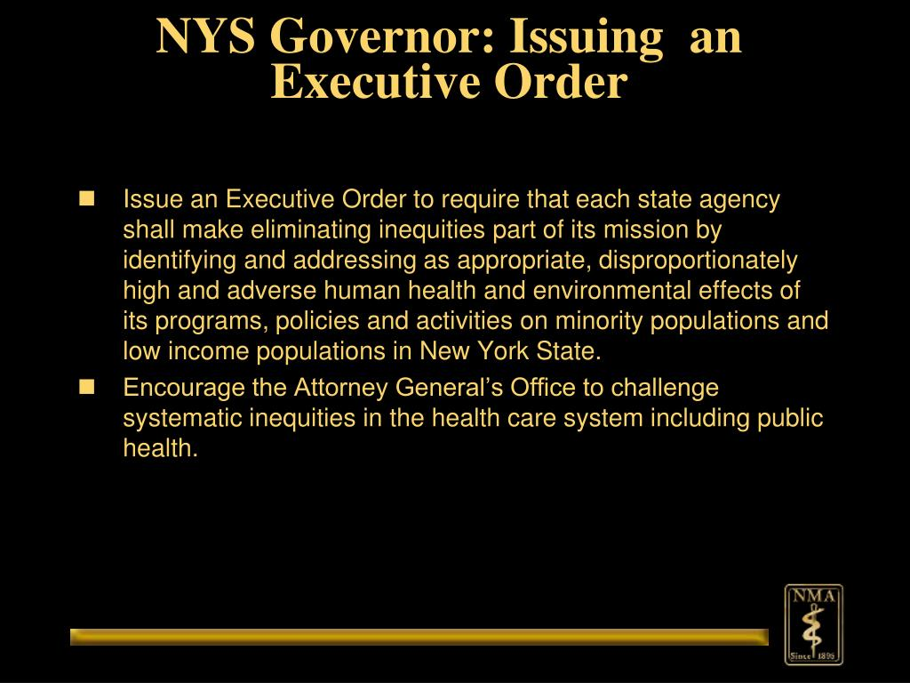 NYS Governor: Issuing  an Executive Order