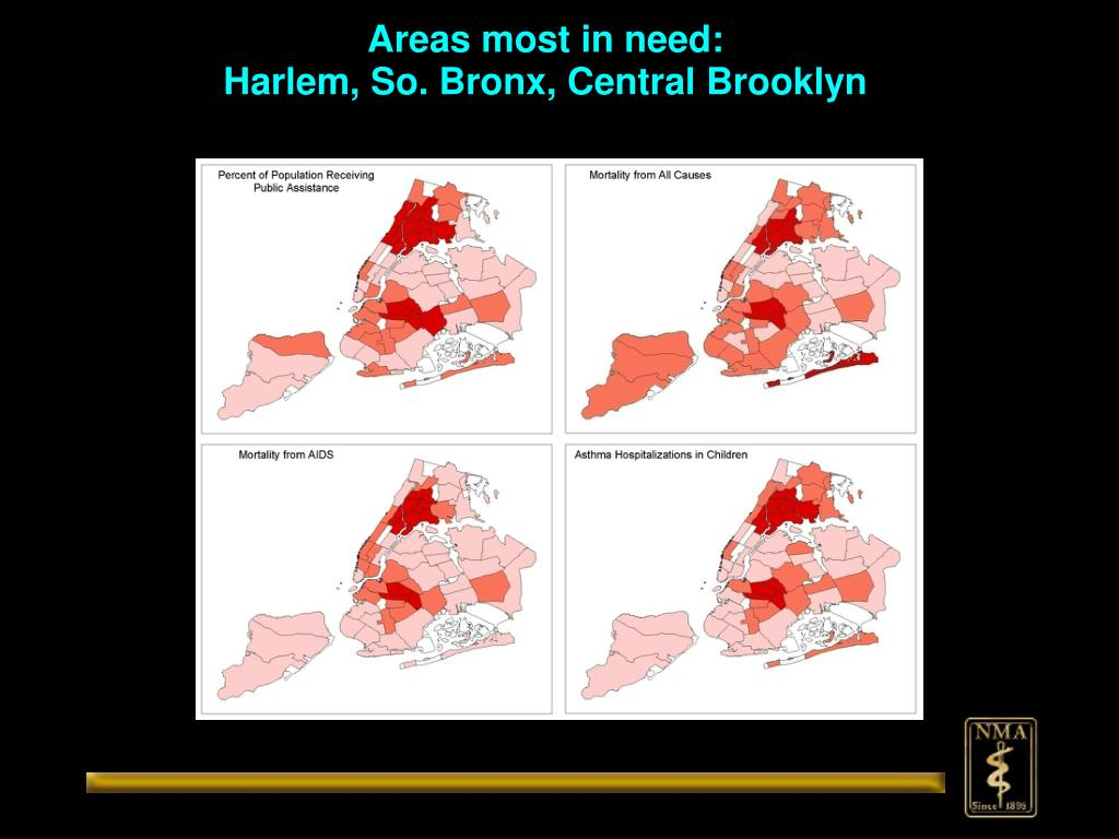 Areas most in need: