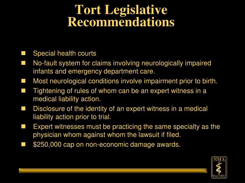 Tort Legislative