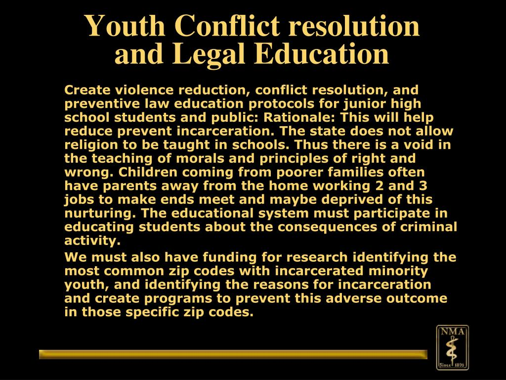 Youth Conflict resolution