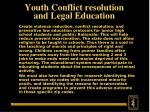 youth conflict resolution and legal education