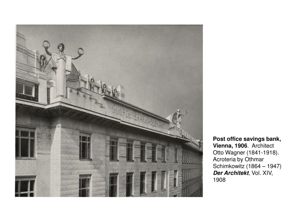 Post office savings bank, Vienna, 1906