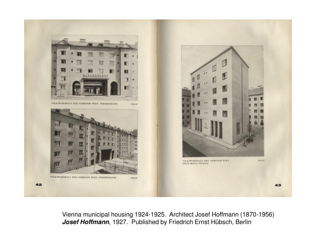 Vienna municipal housing 1924-1925.  Architect Josef Hoffmann (1870-1956)