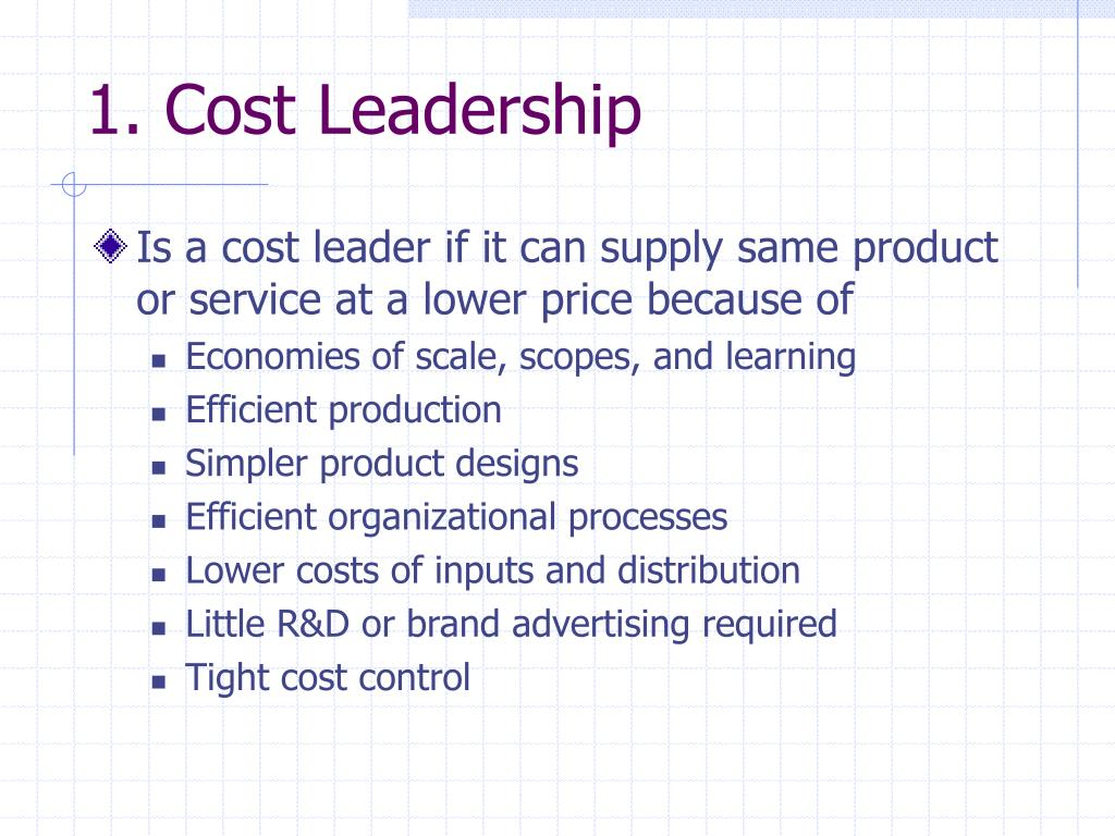 1. Cost Leadership