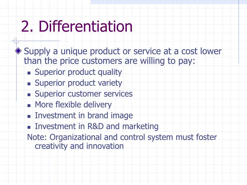 2. Differentiation