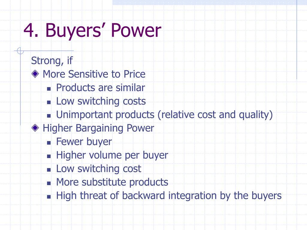4. Buyers' Power