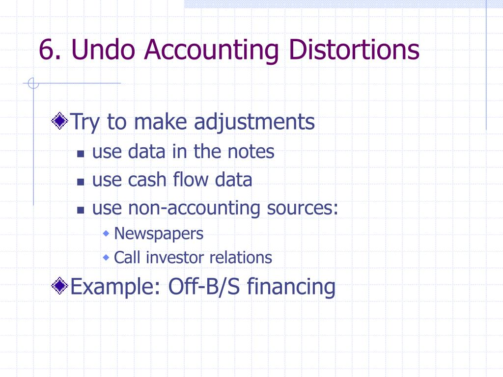 6. Undo Accounting Distortions