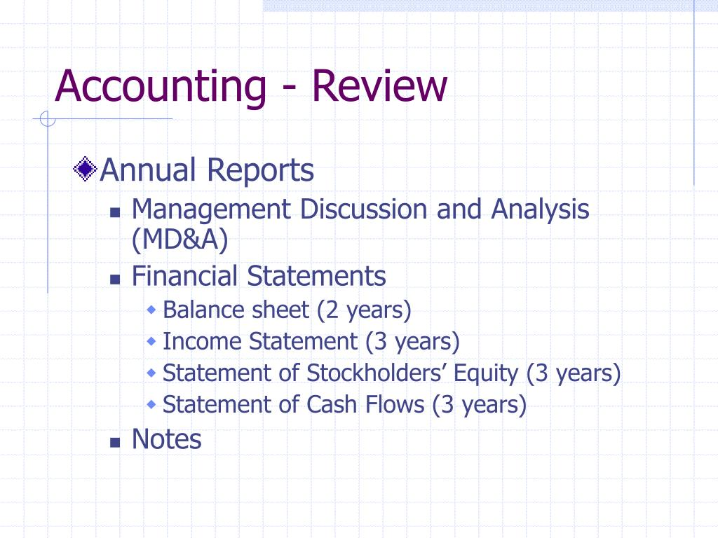 Accounting - Review
