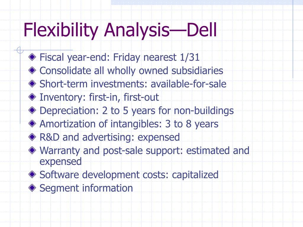 Flexibility Analysis—Dell