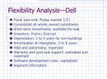 flexibility analysis dell