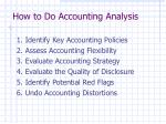 how to do accounting analysis