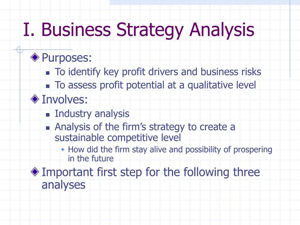 I. Business Strategy Analysis