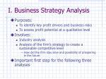 i business strategy analysis