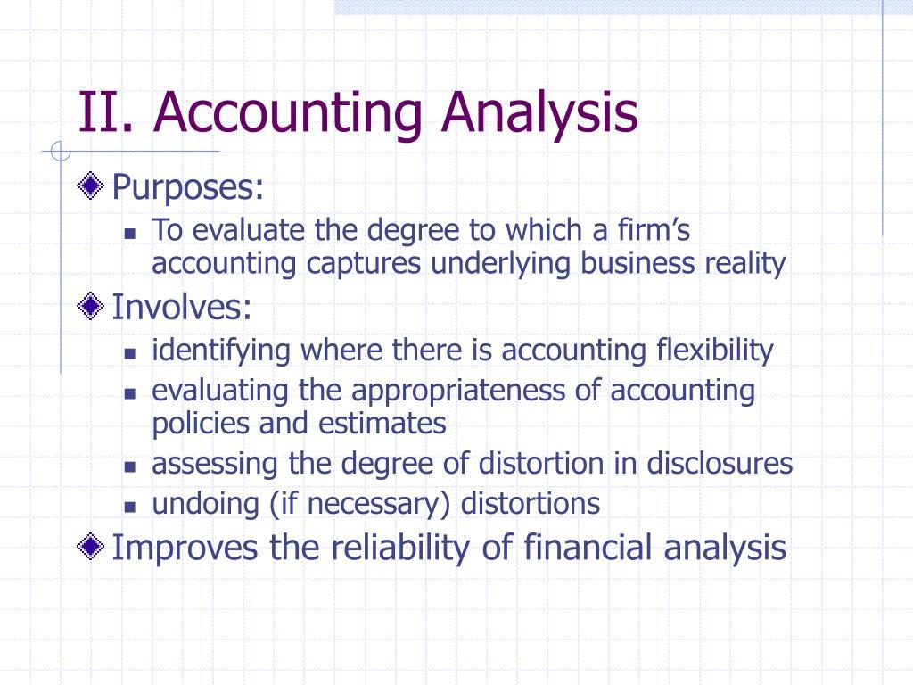 II. Accounting Analysis