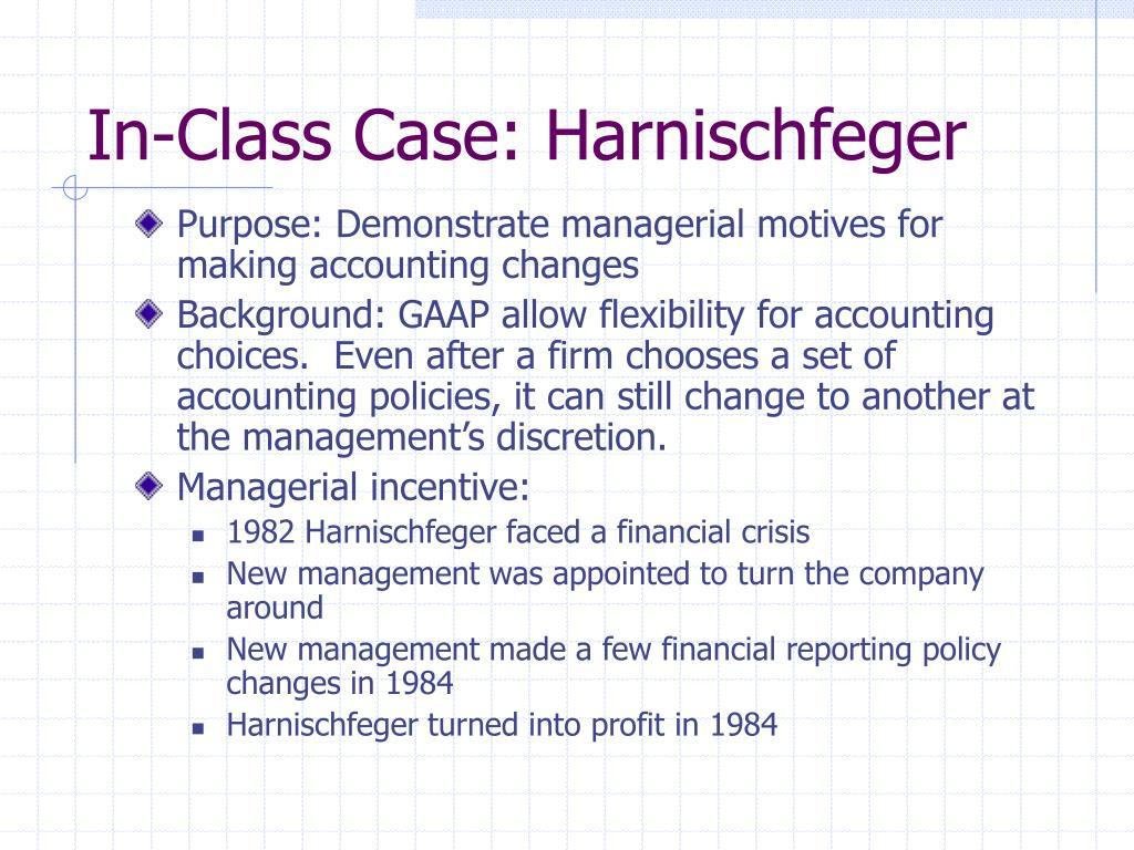 In-Class Case: Harnischfeger