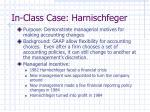 in class case harnischfeger