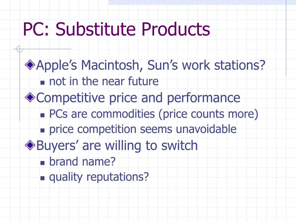 PC: Substitute Products
