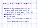 textbook and related materials