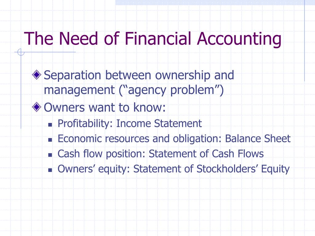 The Need of Financial Accounting