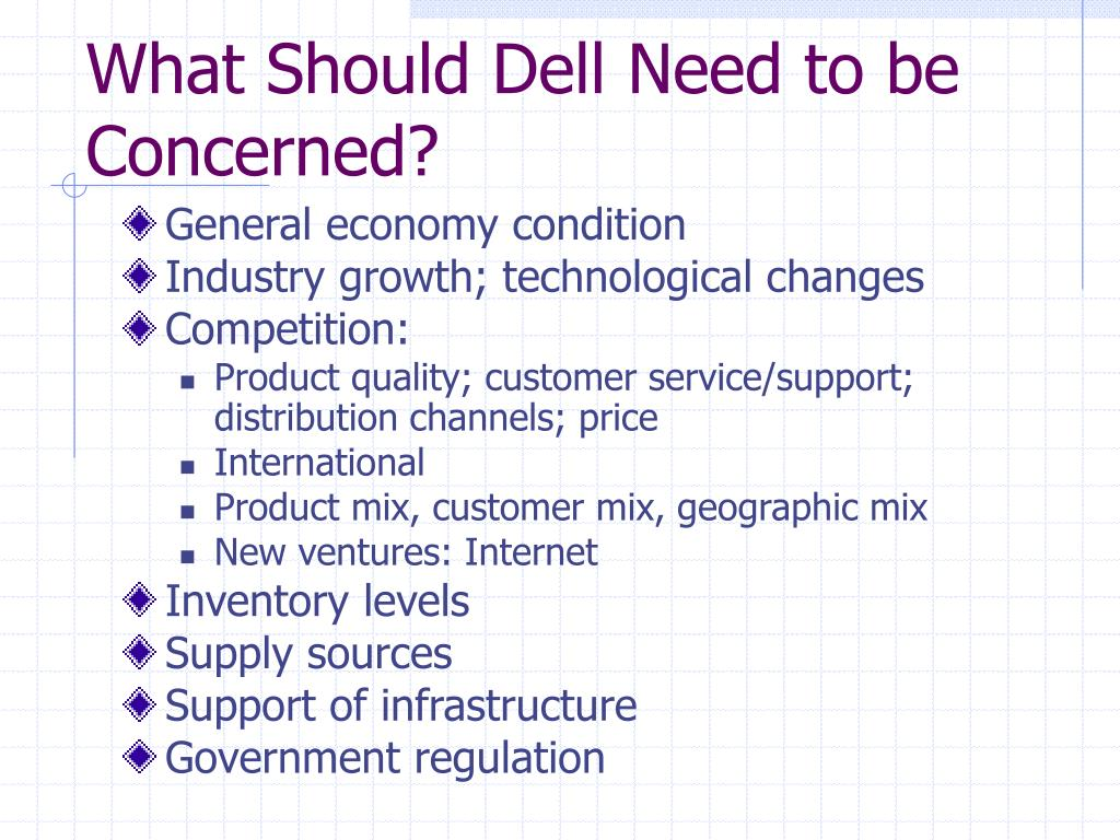 What Should Dell Need to be Concerned?