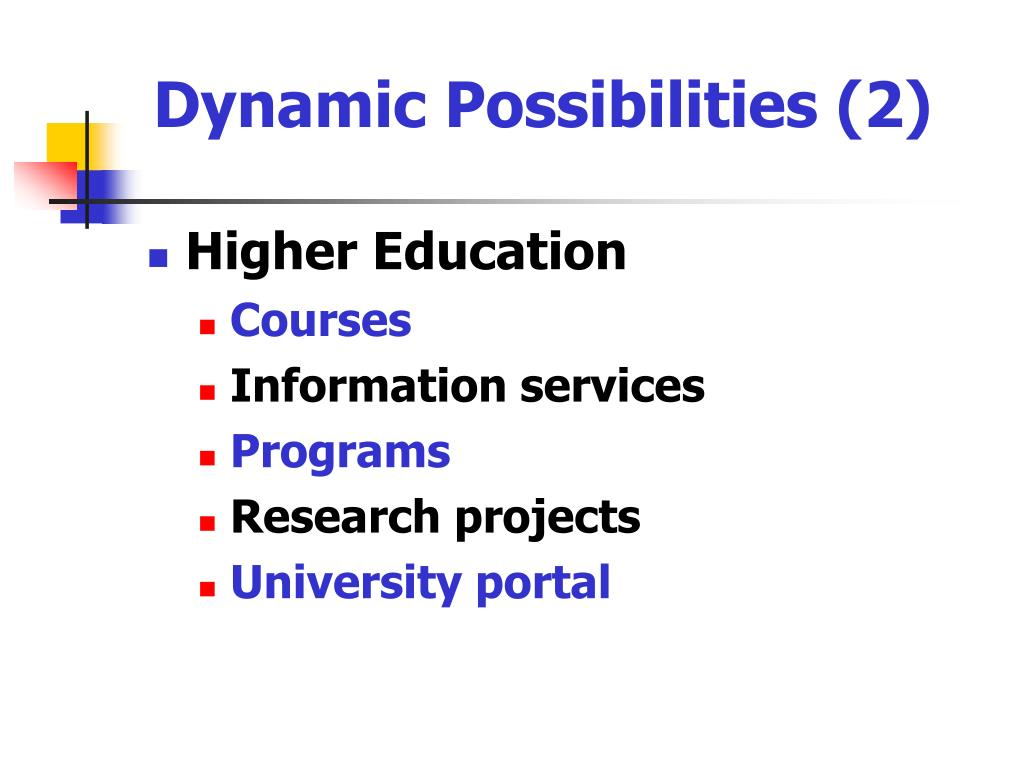 Dynamic Possibilities (2)