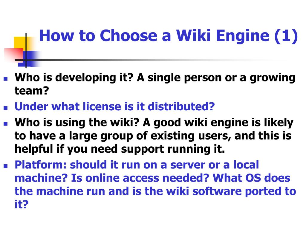 How to Choose a Wiki Engine (1)