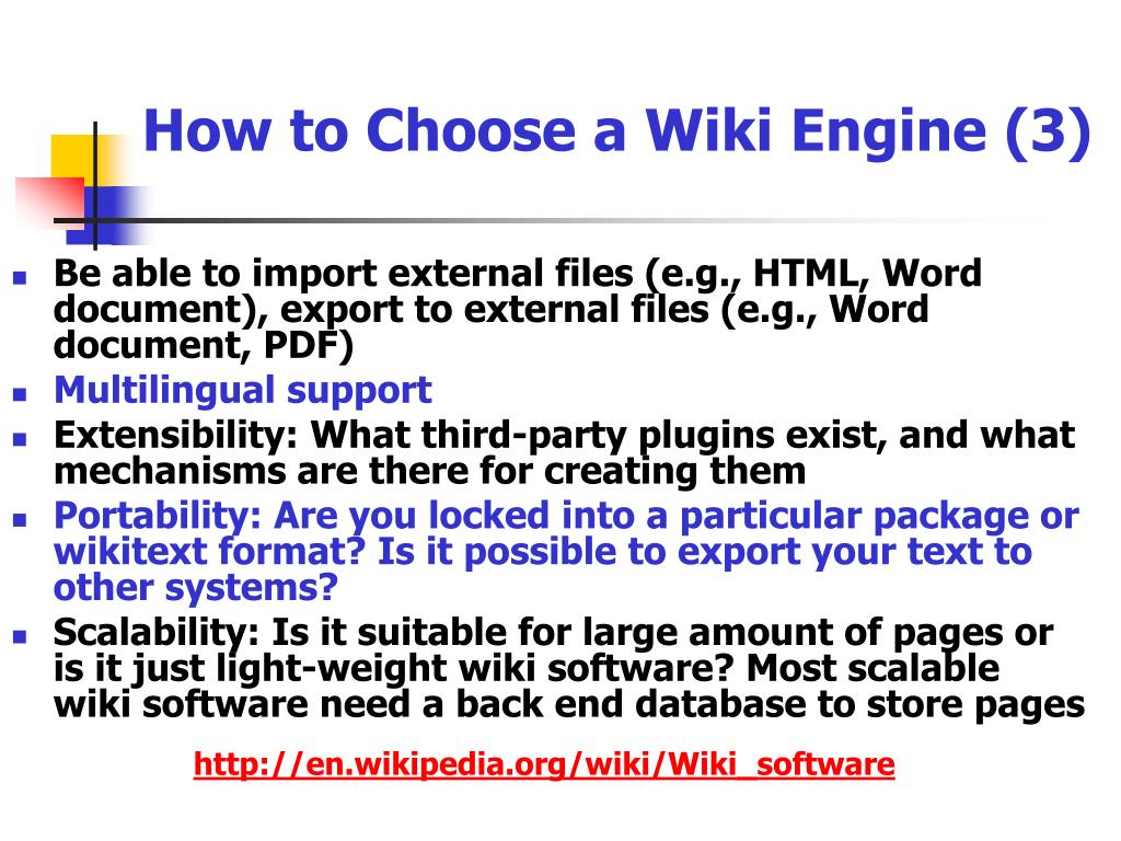 How to Choose a Wiki Engine (3)
