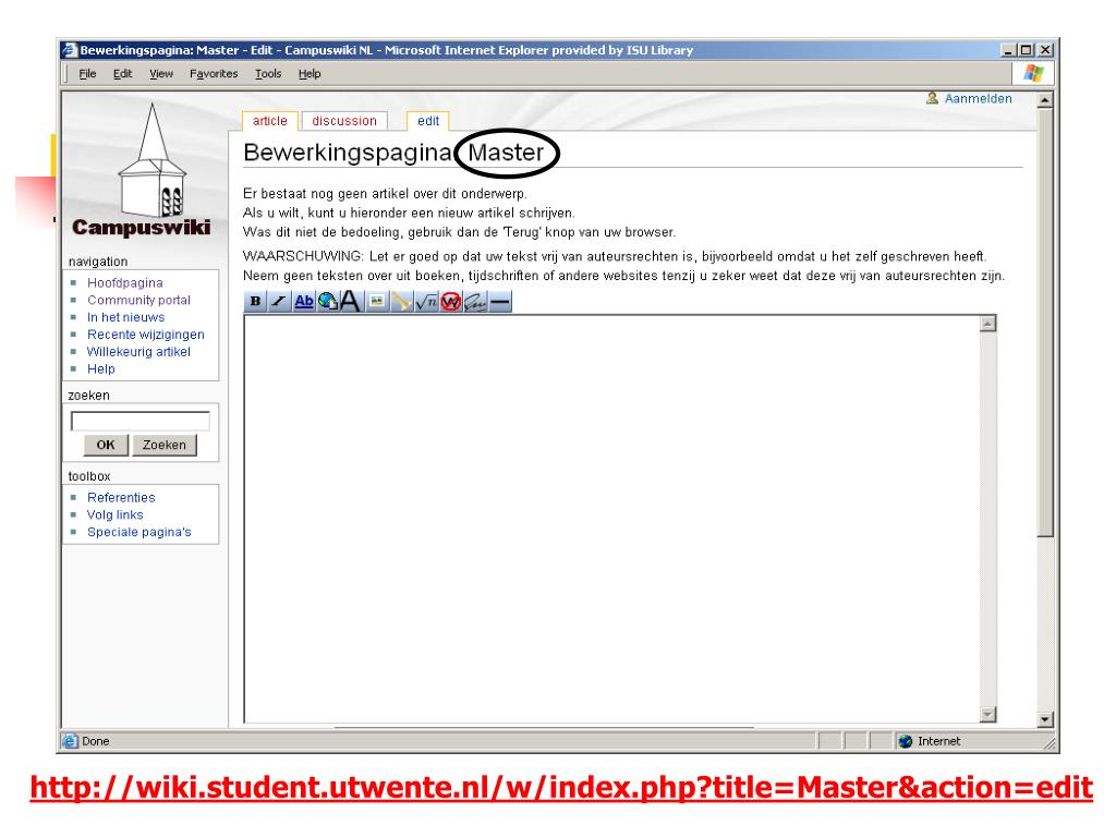 http://wiki.student.utwente.nl/w/index.php?title=Master&action=edit