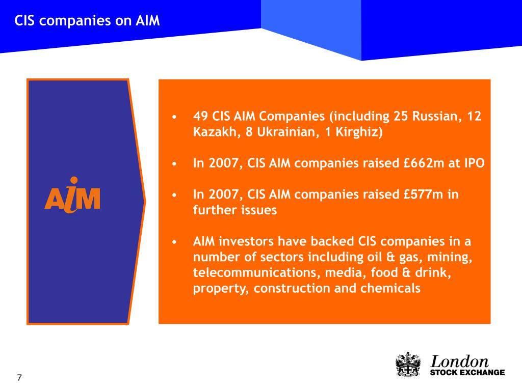CIS companies on AIM