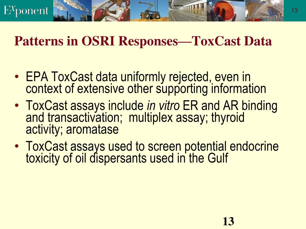 Patterns in OSRI Responses—ToxCast Data