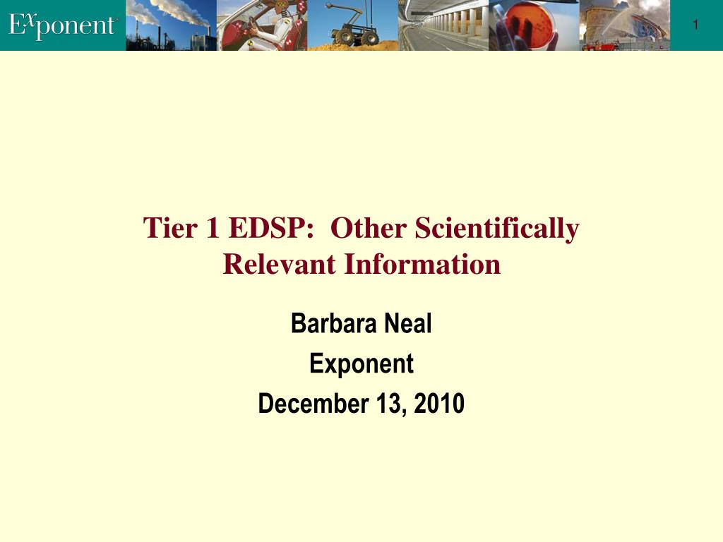 Tier 1 EDSP:  Other Scientifically