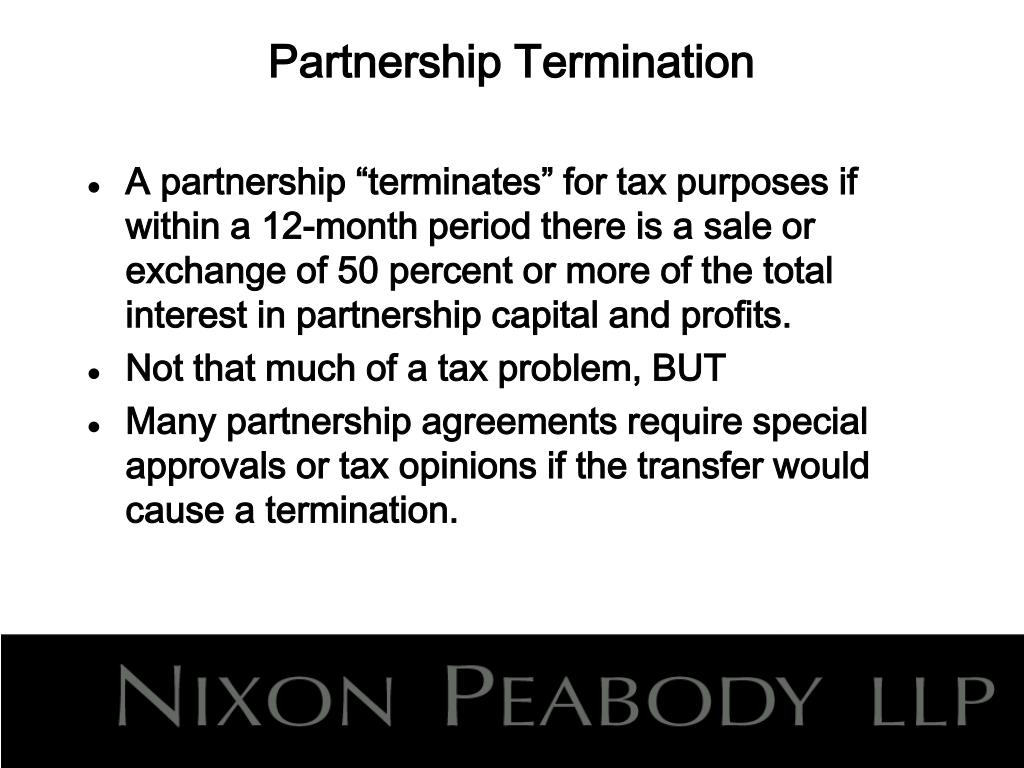 Partnership Termination