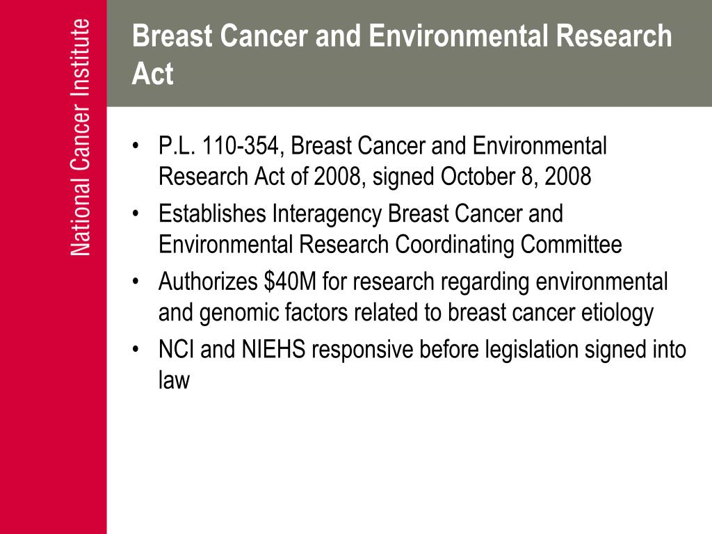 Breast Cancer and Environmental Research Act