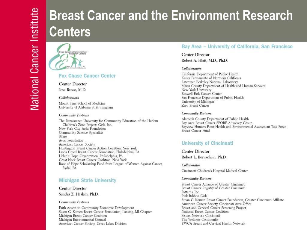 Breast Cancer and the Environment Research Centers