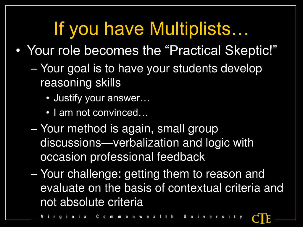If you have Multiplists…
