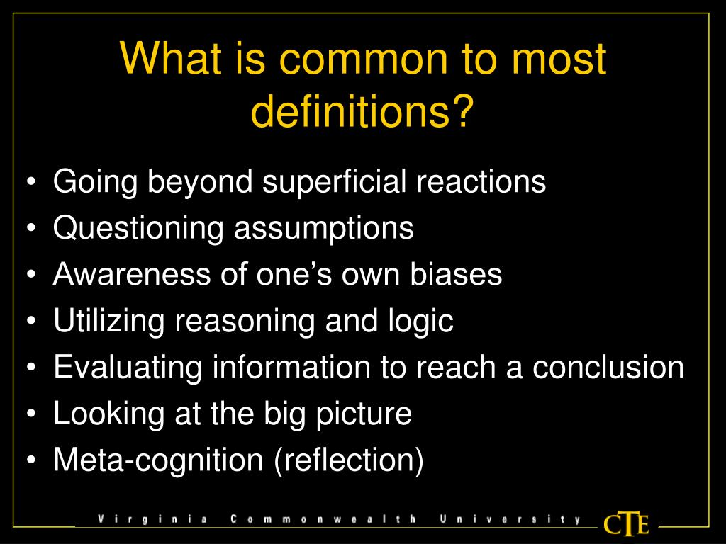 What is common to most definitions?
