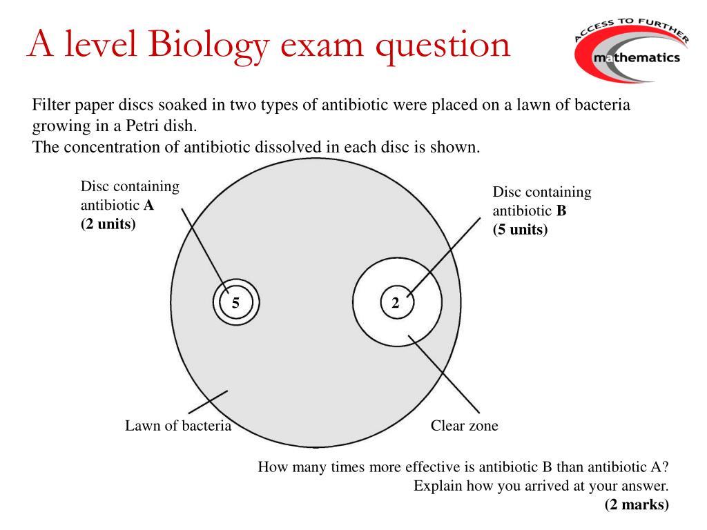 A level Biology exam question