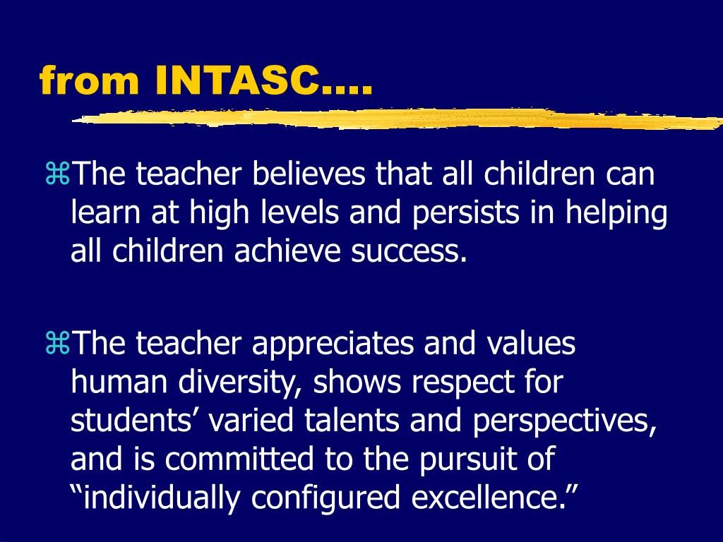 from INTASC….