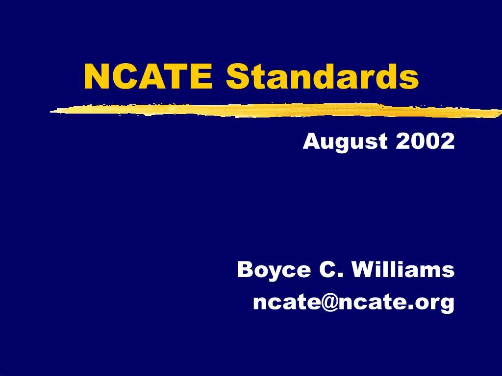 NCATE Standards