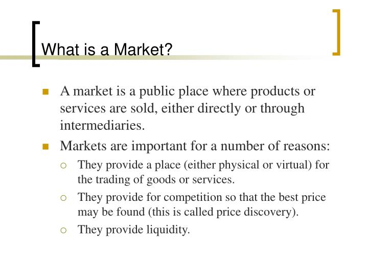 What is a market l.jpg