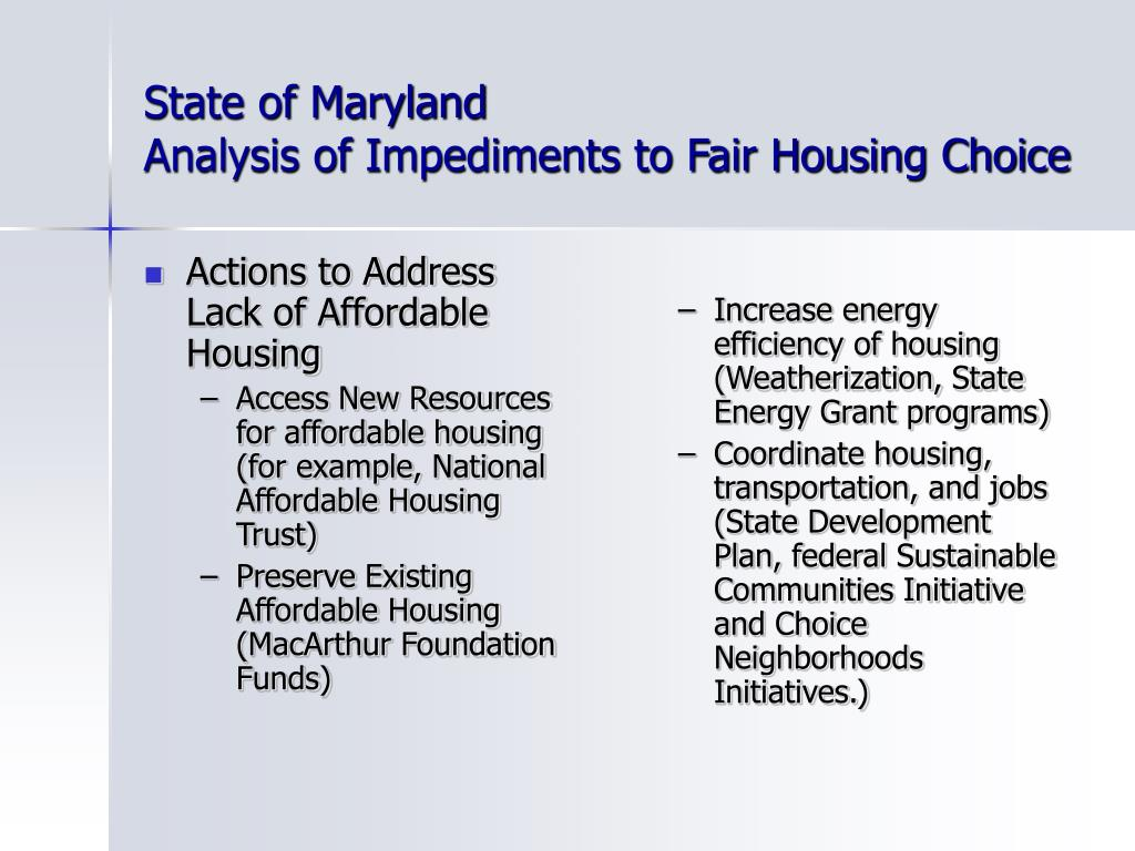Actions to Address Lack of Affordable Housing