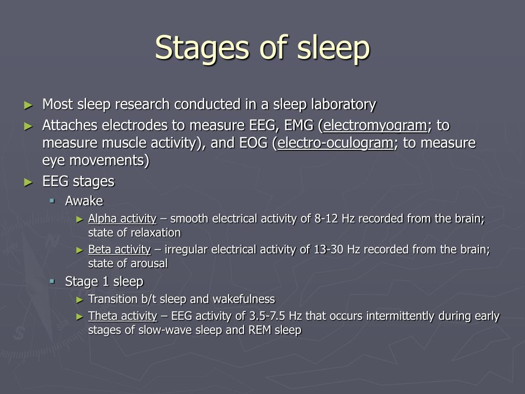 Stages of sleep