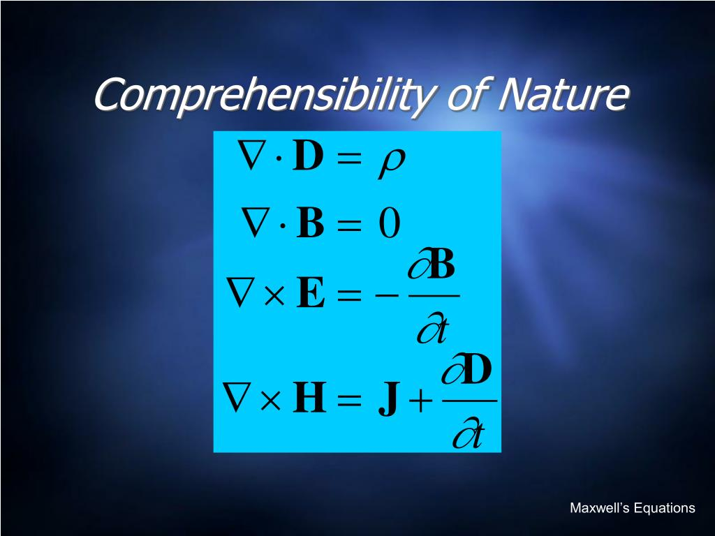 Comprehensibility of Nature