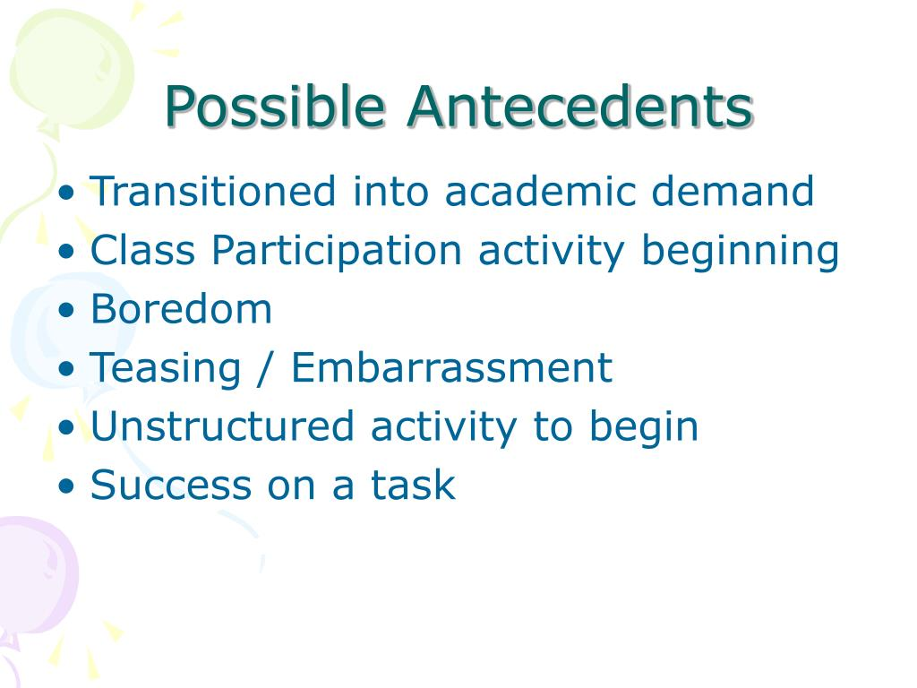 Possible Antecedents