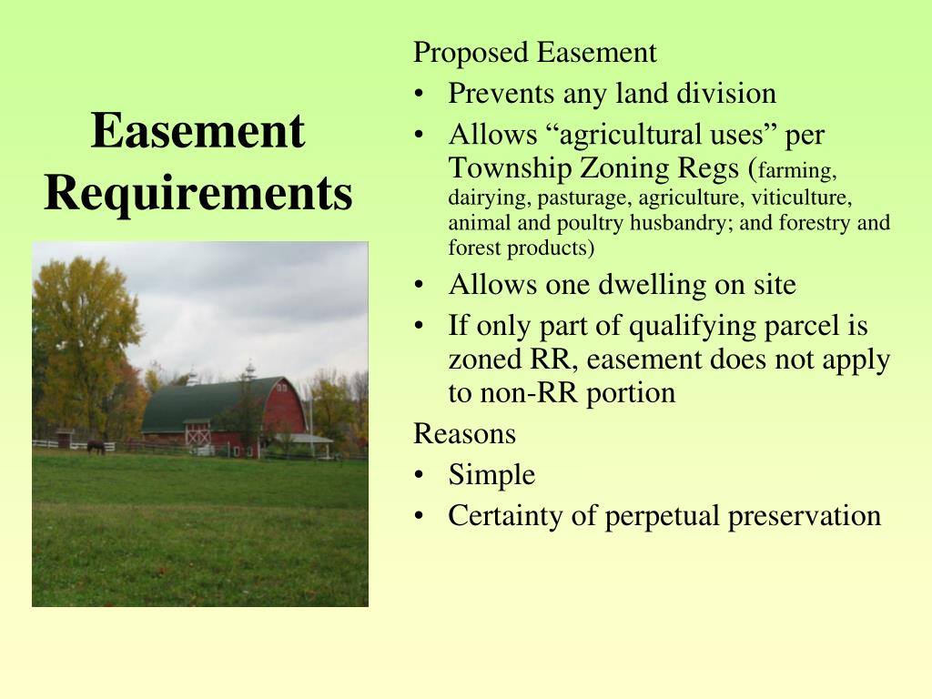 Easement Requirements