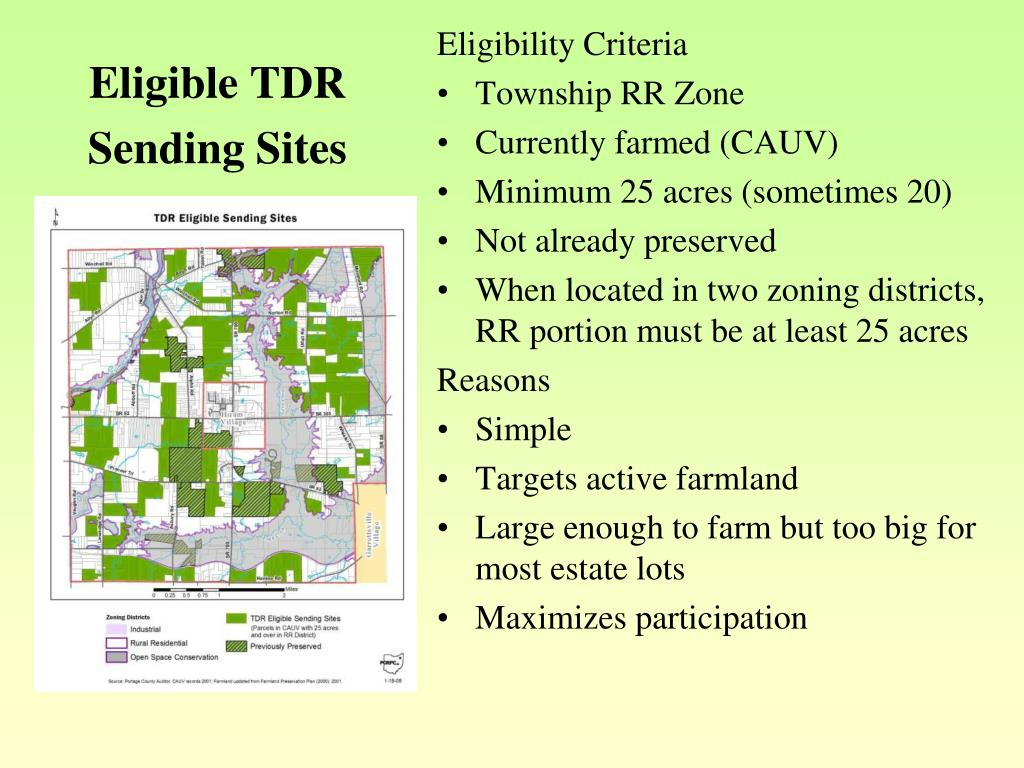 Eligible TDR Sending Sites