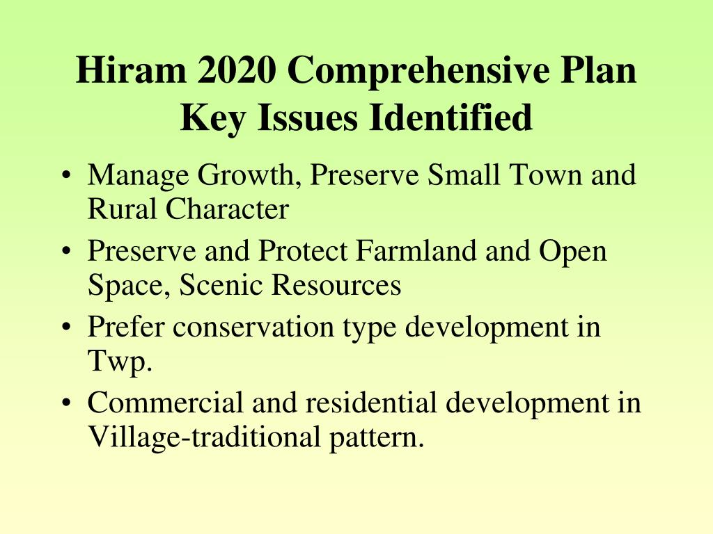 Hiram 2020 Comprehensive Plan