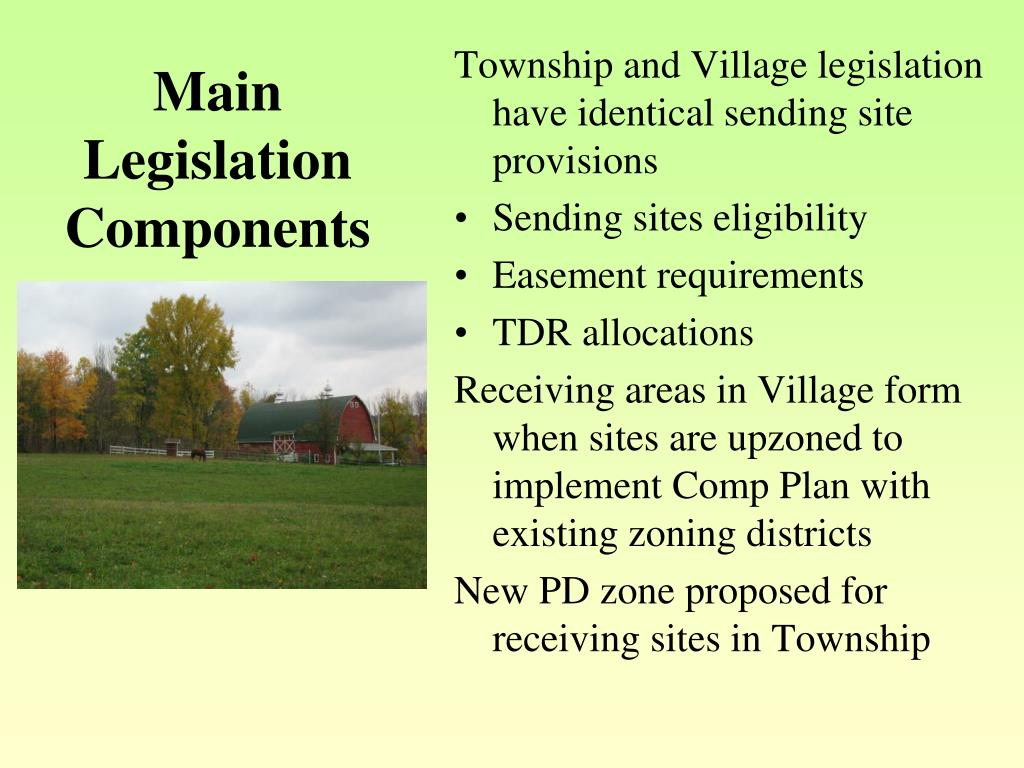Main Legislation Components