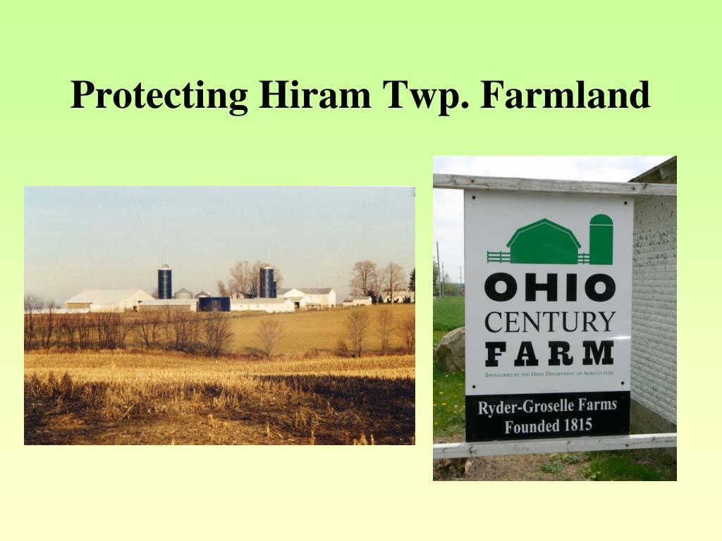 Protecting Hiram Twp. Farmland