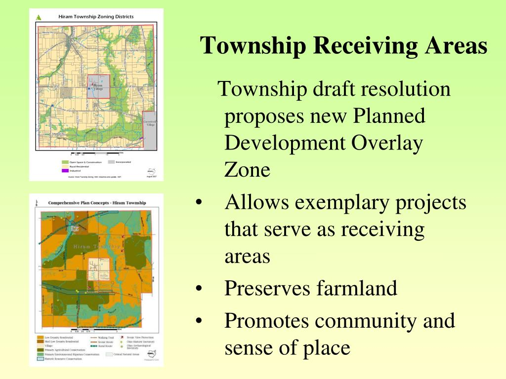 Township Receiving Areas